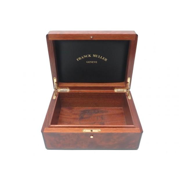 rare boite pour montre franck muller en bois de loupe. Black Bedroom Furniture Sets. Home Design Ideas