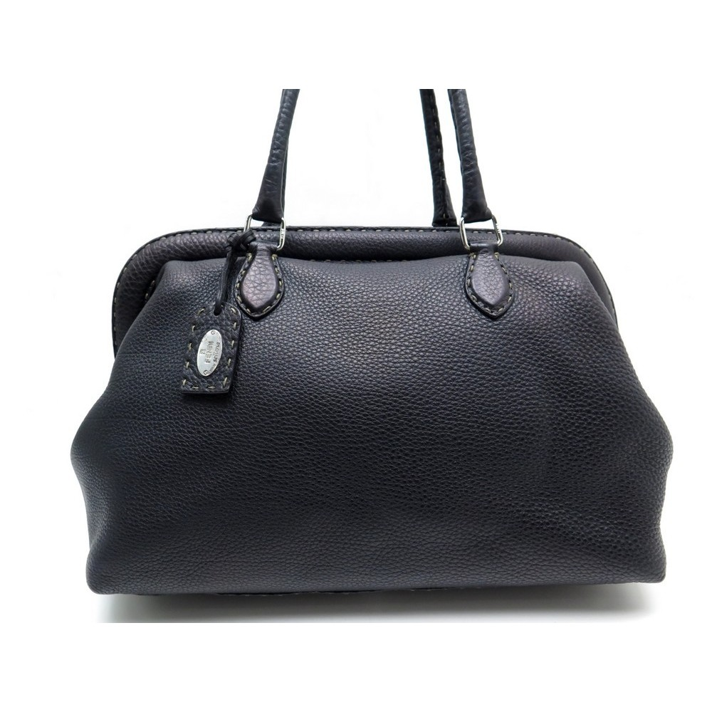 931dbaca5c ... black bag bugs pouch 175374e9oi1b20931 fbd43 5fd88 official store sac a  main fendi docteur en cuir noir graine doctor bag. loading zoom ...