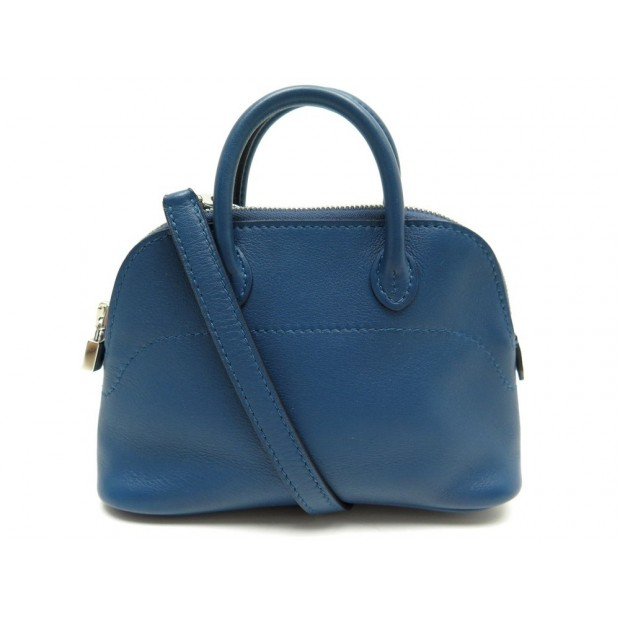 5cec5909de89 ... lime italy f1108 ceaac cheapest neuf sac a main hermes mini bolide  bugatti en cuir swift bleu bandouliere 8ef4e e709e ...