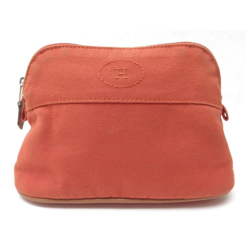 f8ffa0fcca87 ... discount code for pochette hermes bolide mm sac trousse de voyage en  coton. loading zoom ...
