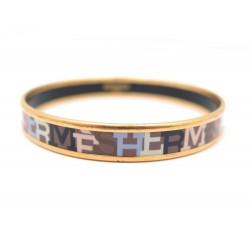 61b521a9f33 ... cheapest bracelet hermes fin en email marron 110 mm metal dore golden  jewel enamel 380 49ef3 ...