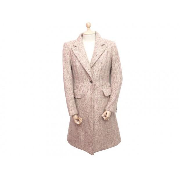 manteau burberry femme 38 m en tweed laine rose. Black Bedroom Furniture Sets. Home Design Ideas