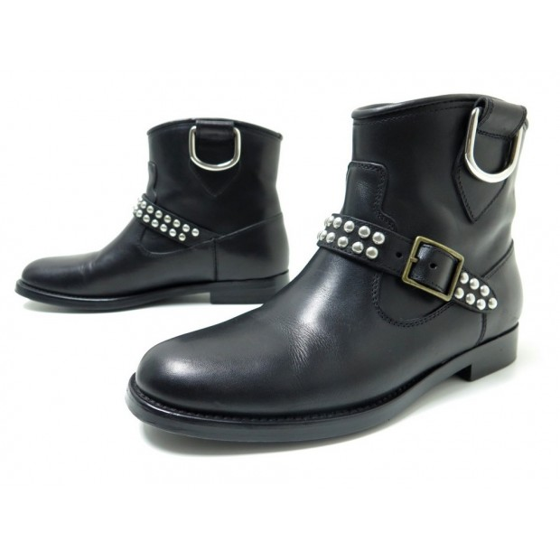 chaussures saint laurent 393726 36 5 bottines. Black Bedroom Furniture Sets. Home Design Ideas