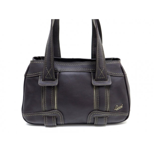 sac a main lancel cabas epaule 34 cm en cuir marron. Black Bedroom Furniture Sets. Home Design Ideas