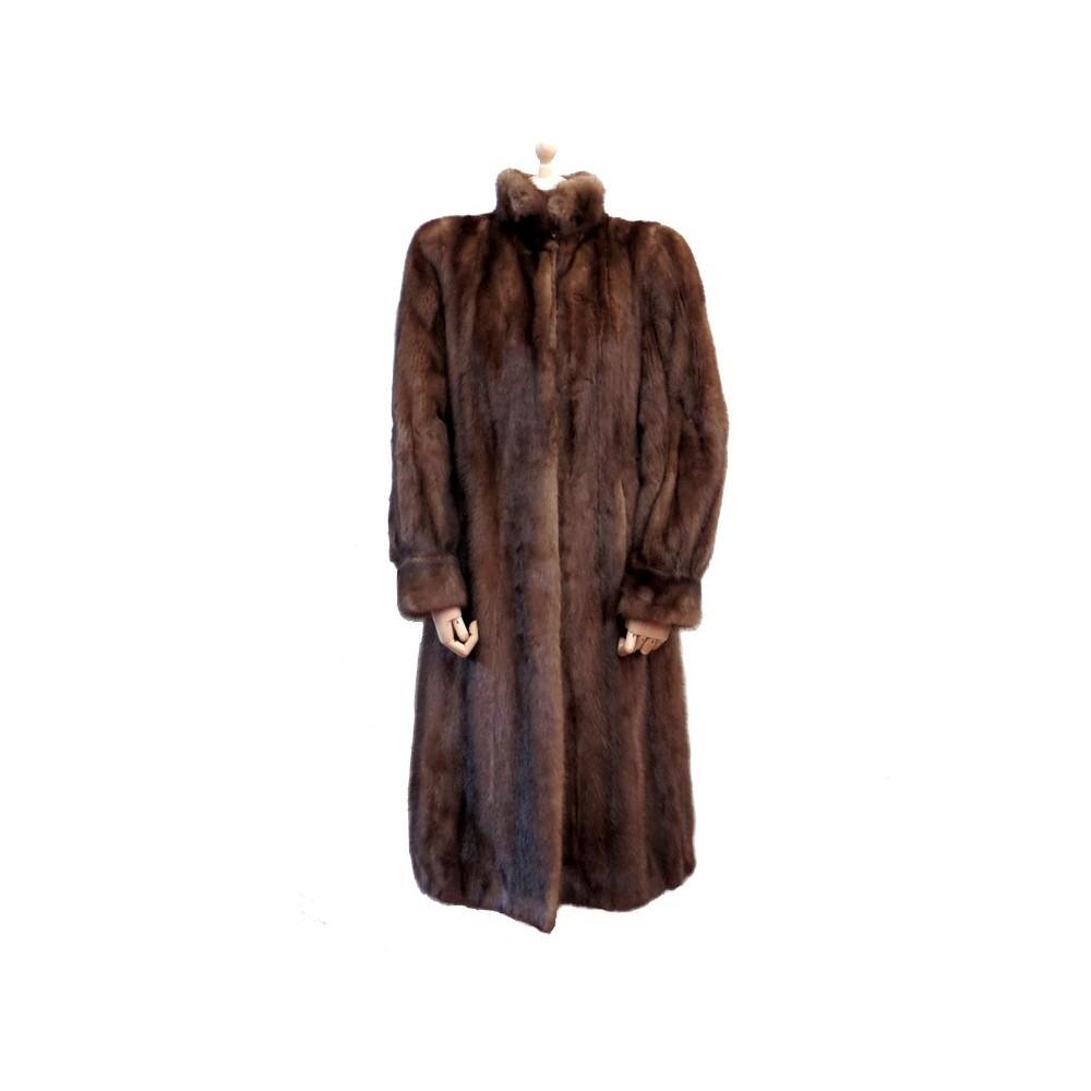 manteau sprung freres femme 42 l en fourrure de vison. Black Bedroom Furniture Sets. Home Design Ideas