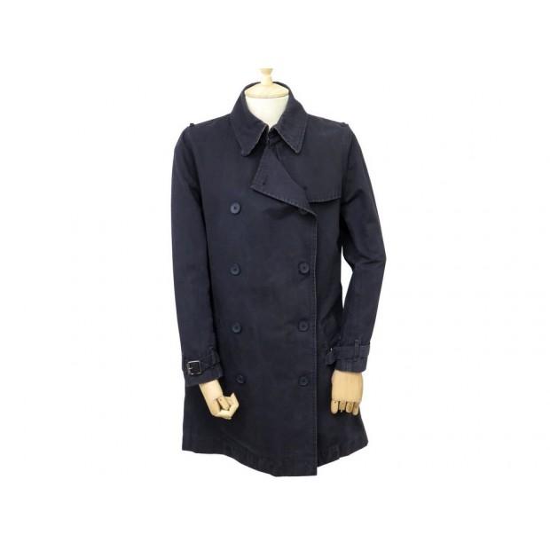 impermeable burberry 42 l manteau femme en coton bleu. Black Bedroom Furniture Sets. Home Design Ideas