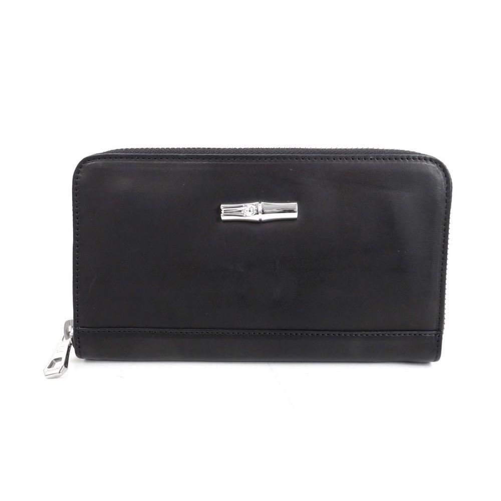 Neuf portefeuille longchamp roseau heritage porte monnaie cuir noir wallet 285 cornerluxe - Porte monnaie femme longchamp ...