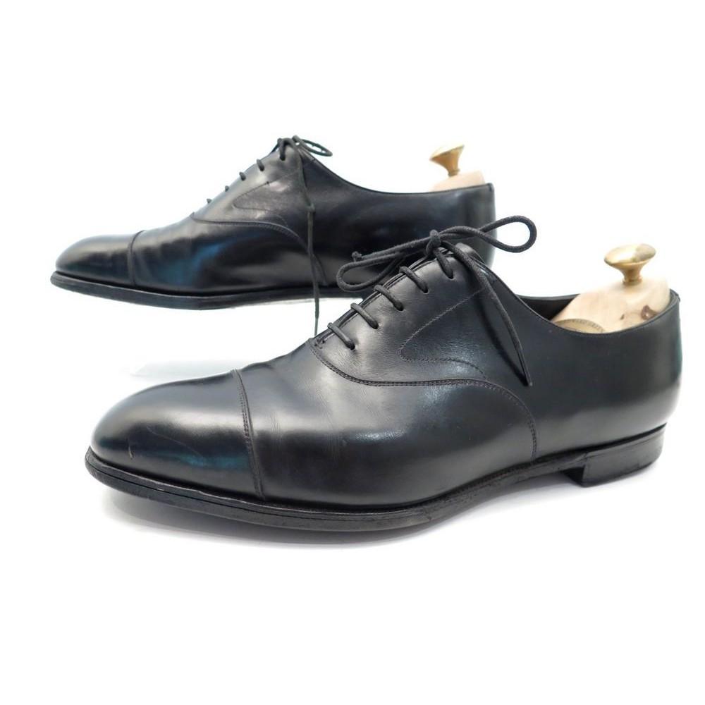 Chaussures Richelieu En Vente, Noir, Cuir, 2017, 42,5 Prada