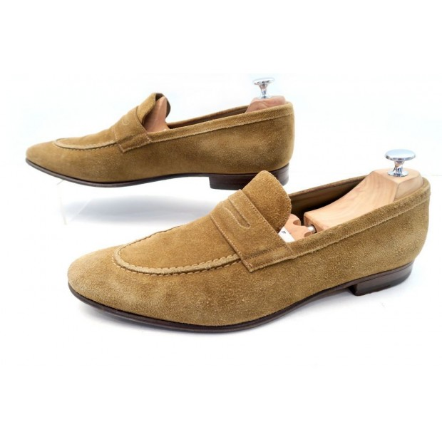 chaussures yves saint laurent mocassins 43 en daim. Black Bedroom Furniture Sets. Home Design Ideas
