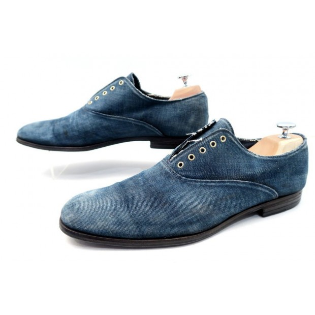chaussures yves saint laurent mocassins en jean 44. Black Bedroom Furniture Sets. Home Design Ideas