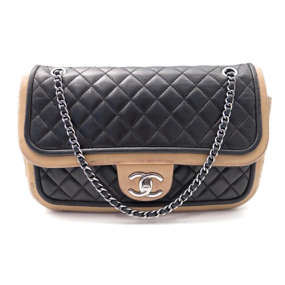 Sac A Main Chanel Blanc Et Noir : Sac a main chanel timeless cuir matelasse noir