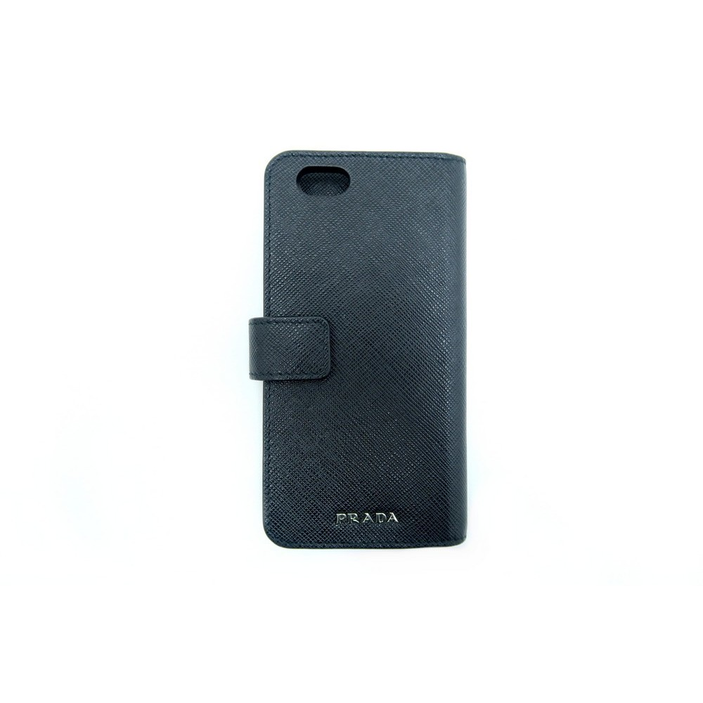 etui iphone 6 6s prada 2zh005 en cuir noir mixte. Black Bedroom Furniture Sets. Home Design Ideas
