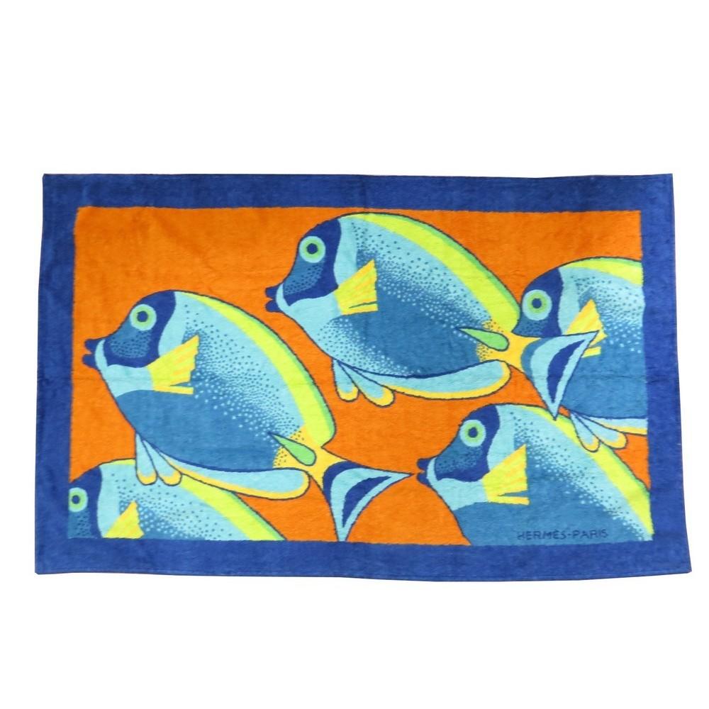 drap de bain hermes tapis de plage poisson serviette. Black Bedroom Furniture Sets. Home Design Ideas