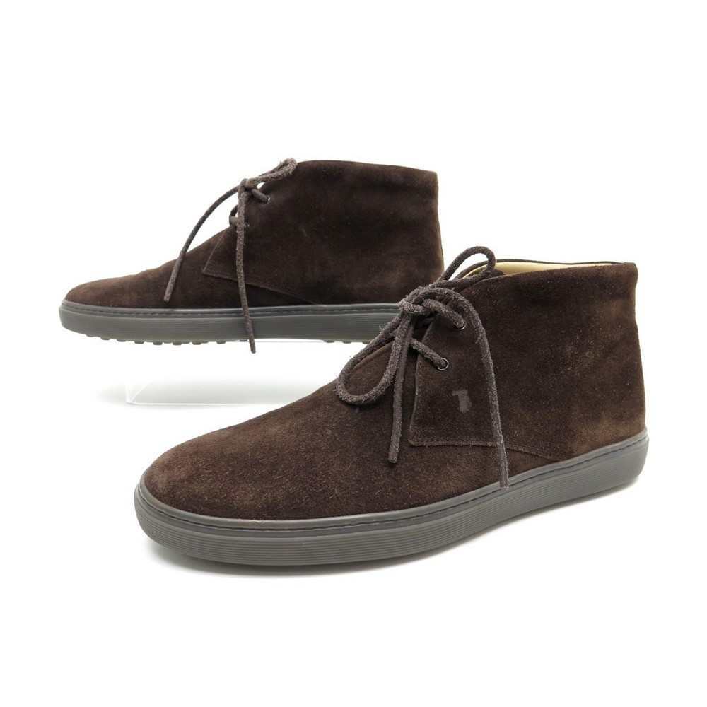 Bottines TOD'S daim marron pointure homme EU 44.5