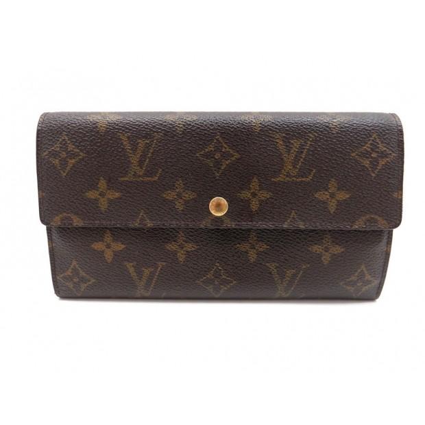 Portefeuille louis vuitton sarah toile monogram lv - Portefeuille porte monnaie ...