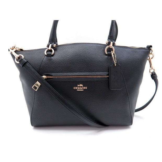 sac a main coach satchel 58874 en cuir noir. Black Bedroom Furniture Sets. Home Design Ideas