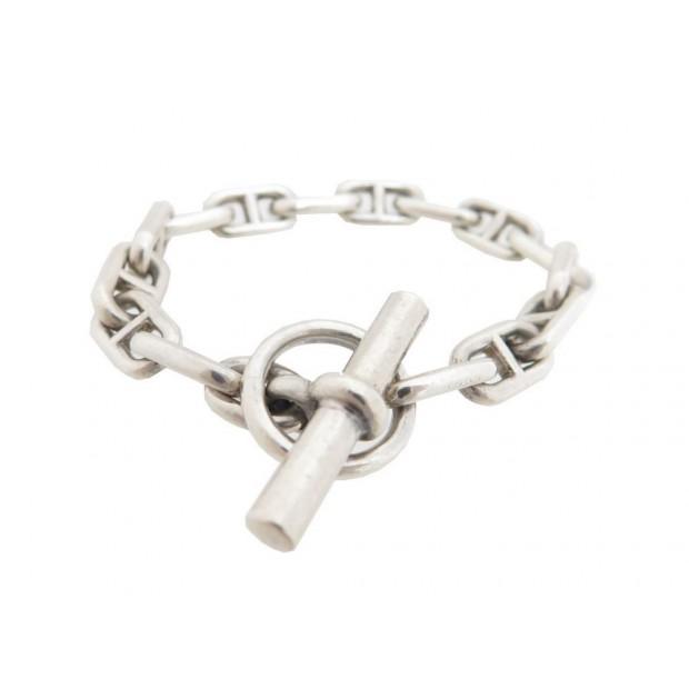 ... free shipping vintage bracelet maille chaine d ancre en argent massif  silver boite hermes f5b51 26561 69a9e43d25d