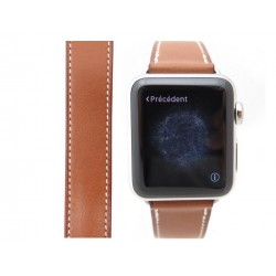 Bracelet de montre hermes en cuir