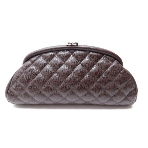 sac a main chanel pochette timeless en cuir. Black Bedroom Furniture Sets. Home Design Ideas