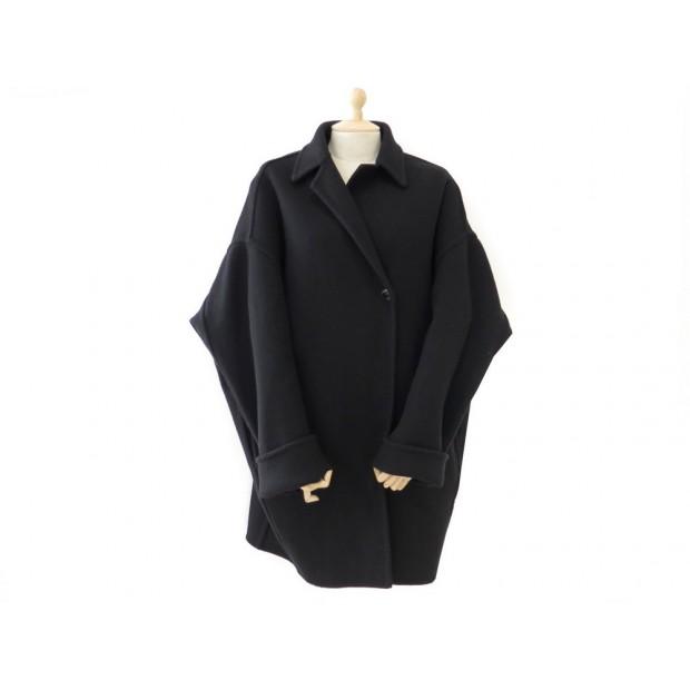 manteau celine oversize 28m675727 en laine noir. Black Bedroom Furniture Sets. Home Design Ideas