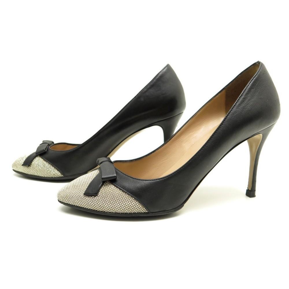 chaussures valentino escarpins 40 5 en strass cuir. Black Bedroom Furniture Sets. Home Design Ideas