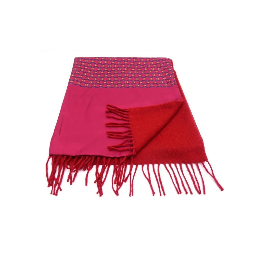 echarpe hermes en cachemire et soie rouge homme red. Black Bedroom Furniture Sets. Home Design Ideas