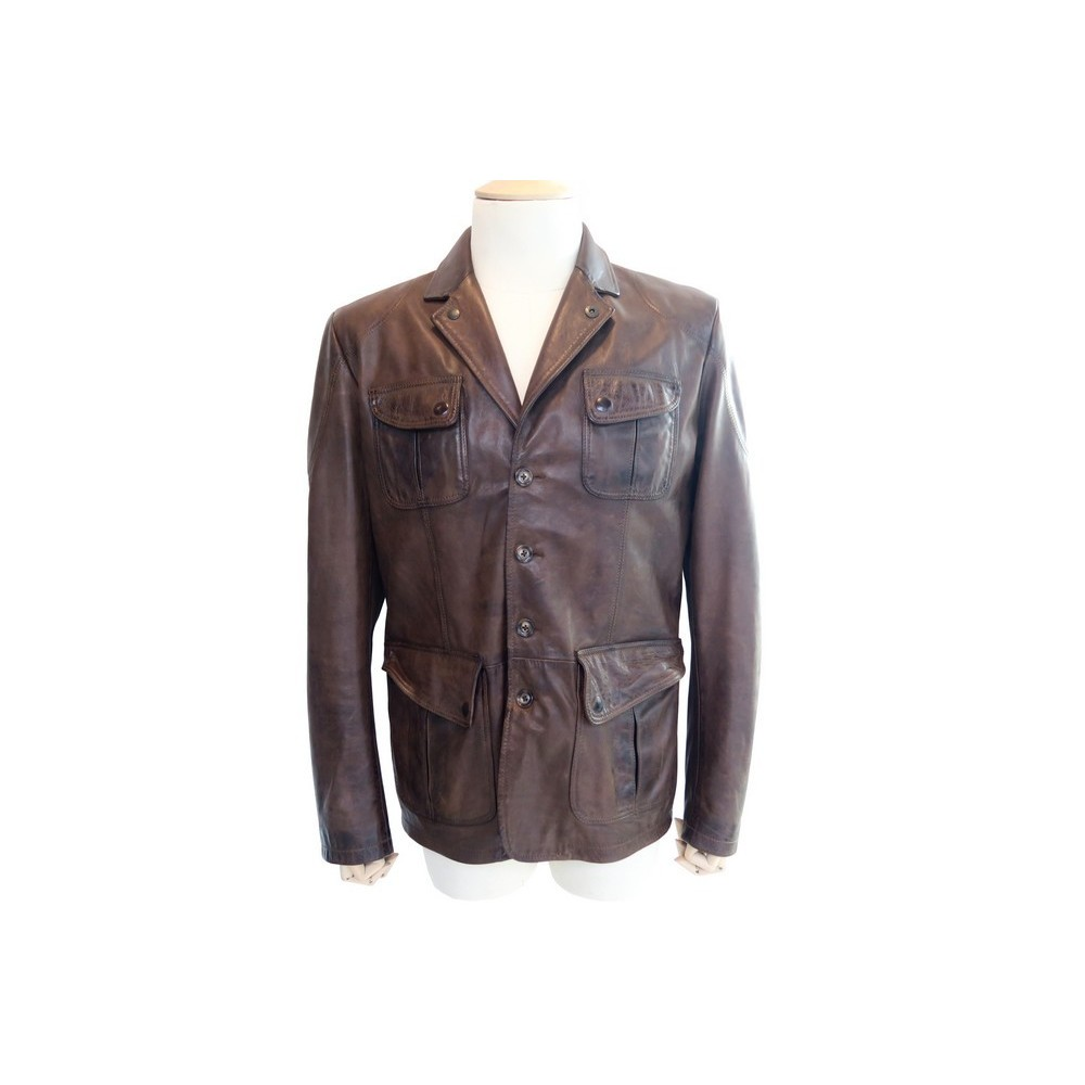 manteau matchless xl l 50 en cuir marron homme. Black Bedroom Furniture Sets. Home Design Ideas