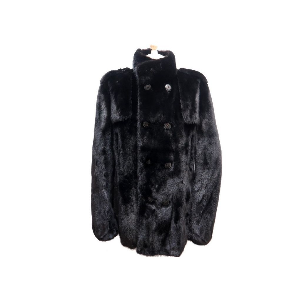 manteau long yves salomon 48 m en fourrure vison. Black Bedroom Furniture Sets. Home Design Ideas
