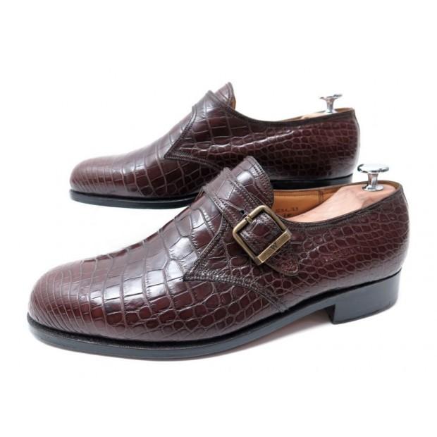 chaussures jm weston 581 mocassins a boucle 7e 42 cuir. Black Bedroom Furniture Sets. Home Design Ideas