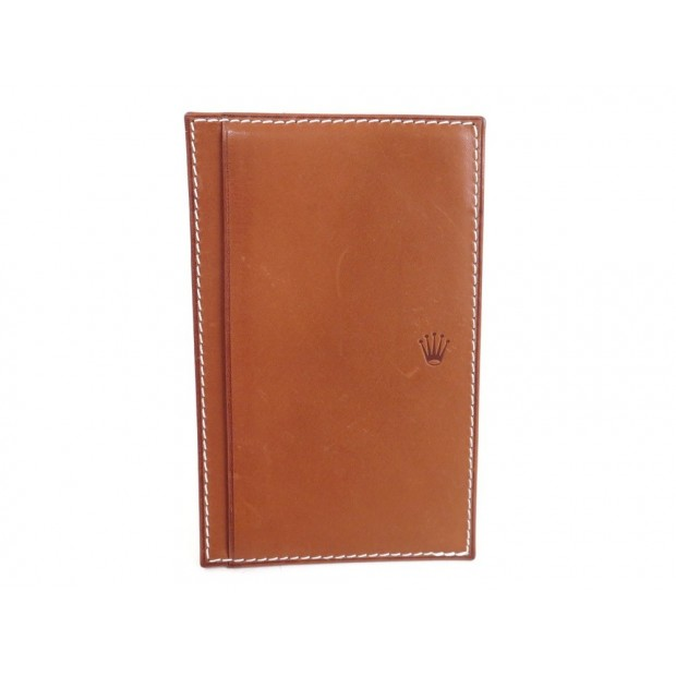 Couverture Porte Bloc Note Rolex En Cuir Marron Brown - Porte bloc note