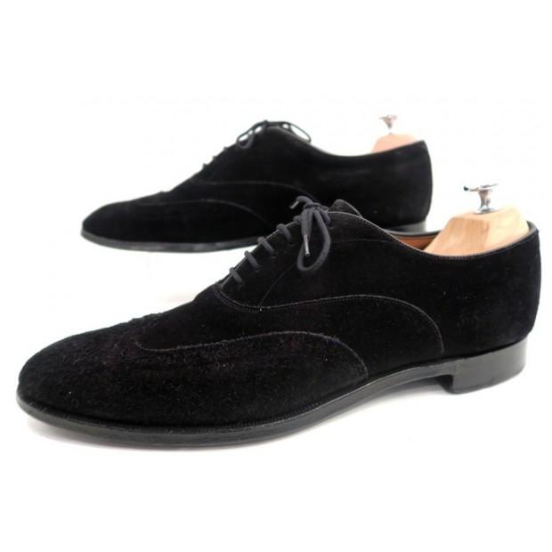 chaussures church 39 s richelieu 42 5 en daim noir. Black Bedroom Furniture Sets. Home Design Ideas