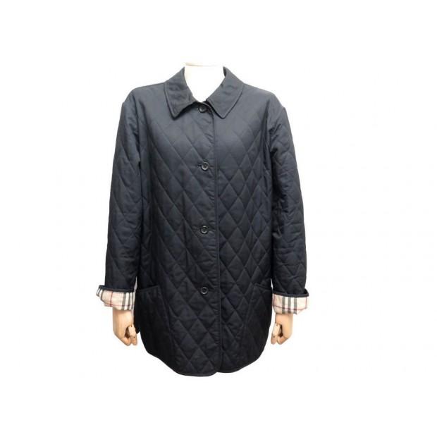 Célèbre manteau burberry l 44 femme veste matelassee noir GS85