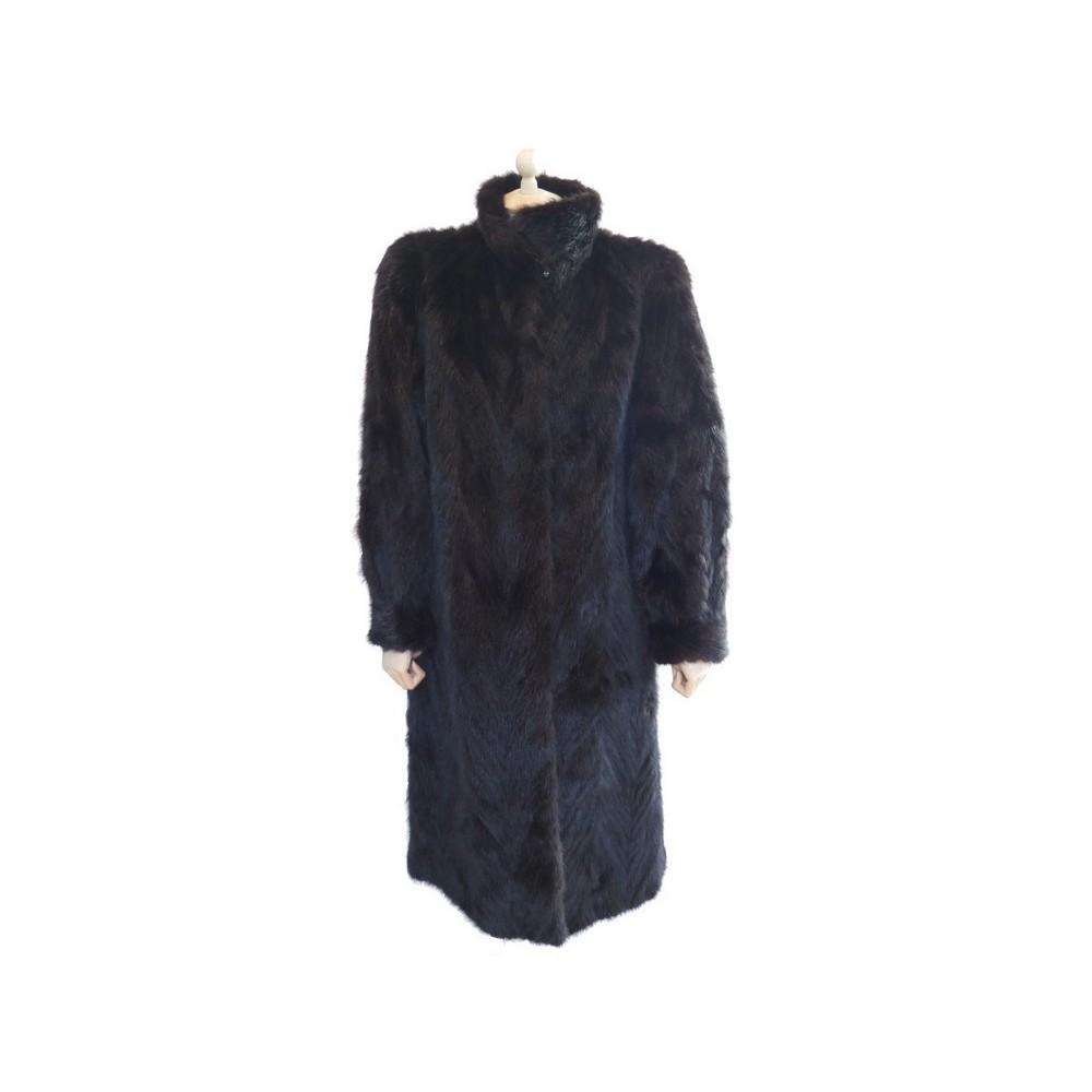 manteau long sprung freres 40 m en fourrure de vison. Black Bedroom Furniture Sets. Home Design Ideas