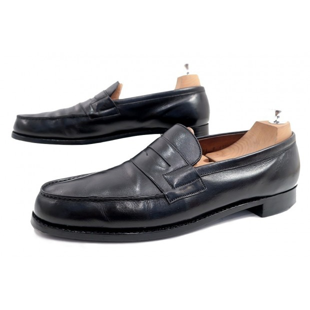 chaussures jm weston mocassins 11b 45 cuir noir homme. Black Bedroom Furniture Sets. Home Design Ideas