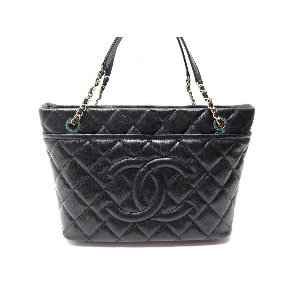 Extrêmement sac a main chanel cabas shopping logo cc en cuir VZ89