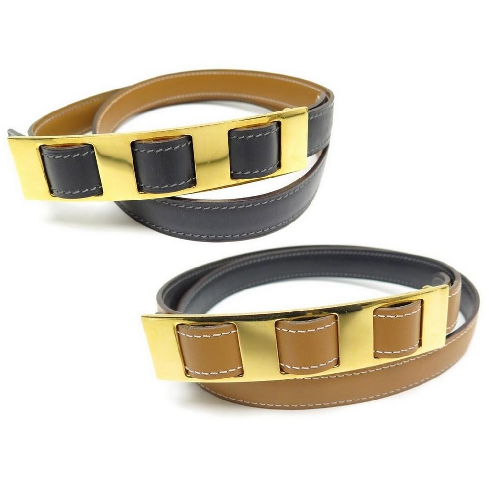 ceinture hermes t80 20mm cuir reversible gris gold 51d5c8b3327