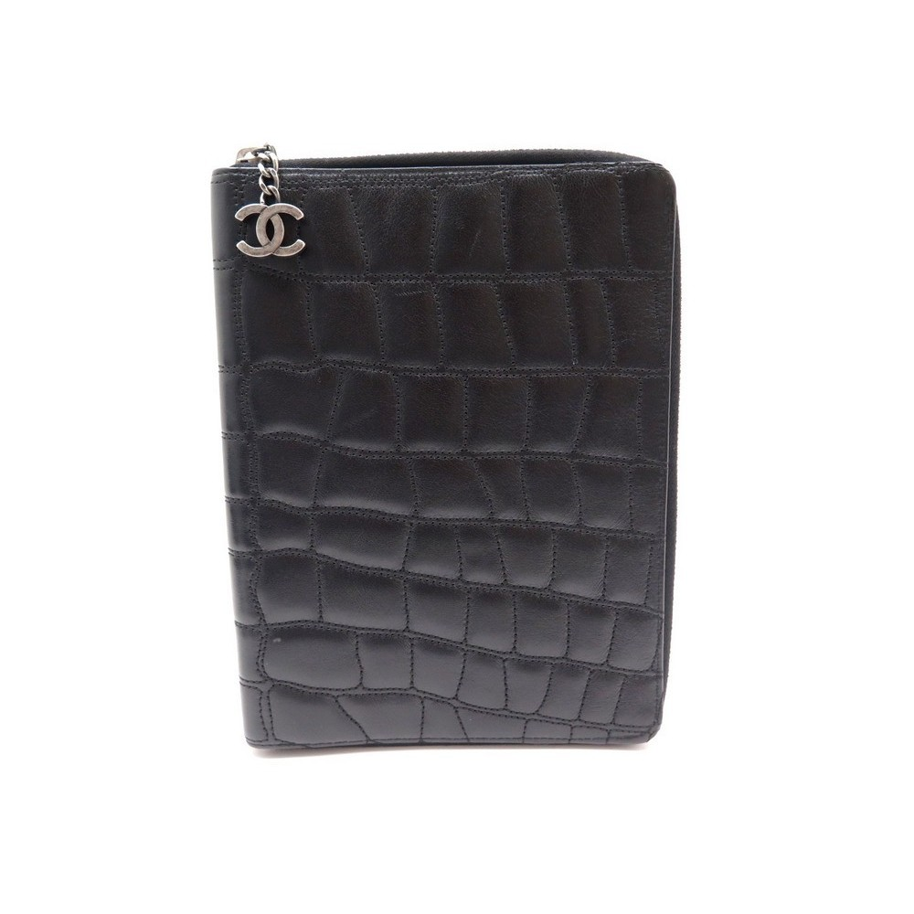 Porte Bloc Notes Documents Agenda Chanel En Cuir - Porte bloc note