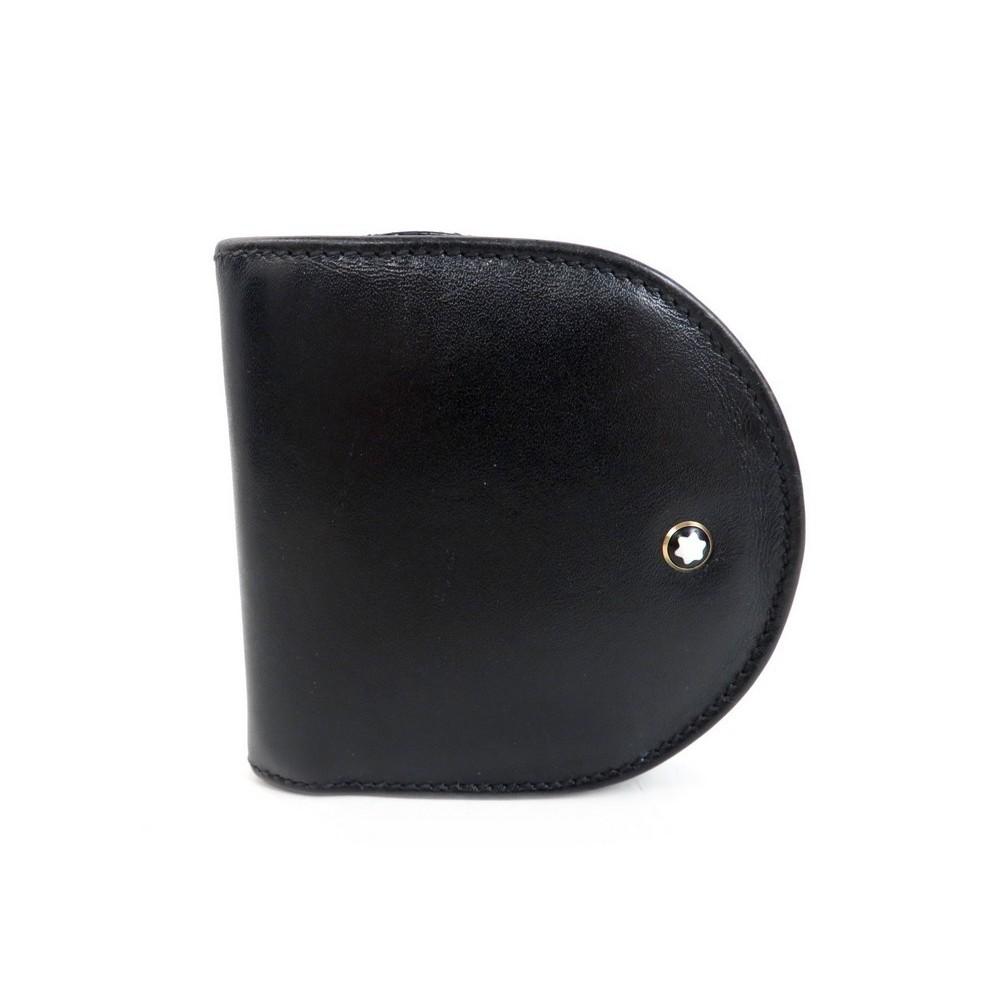 Porte-monnaie MONTBLANC cuir noir mUGz2HMpue