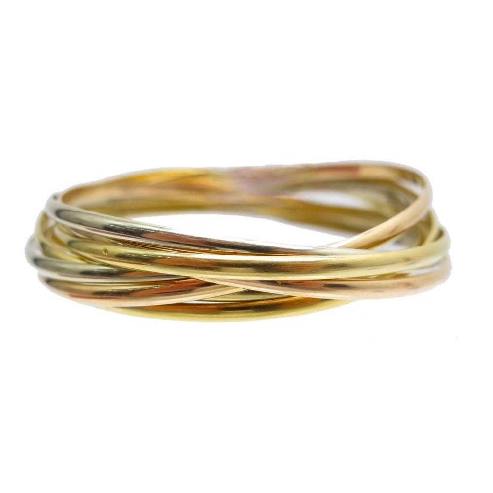 bracelets cartier trinity semainier 3 ors jaune rose. Black Bedroom Furniture Sets. Home Design Ideas