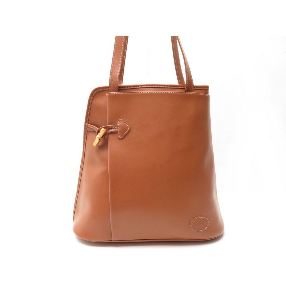 sac a main longchamp roseau dore en cuir marron. Black Bedroom Furniture Sets. Home Design Ideas