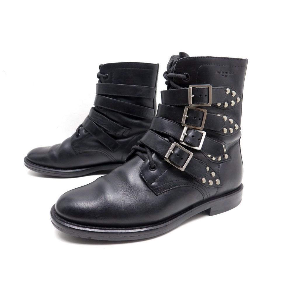 chaussures saint laurent 40 rangers 335112 bottillons. Black Bedroom Furniture Sets. Home Design Ideas