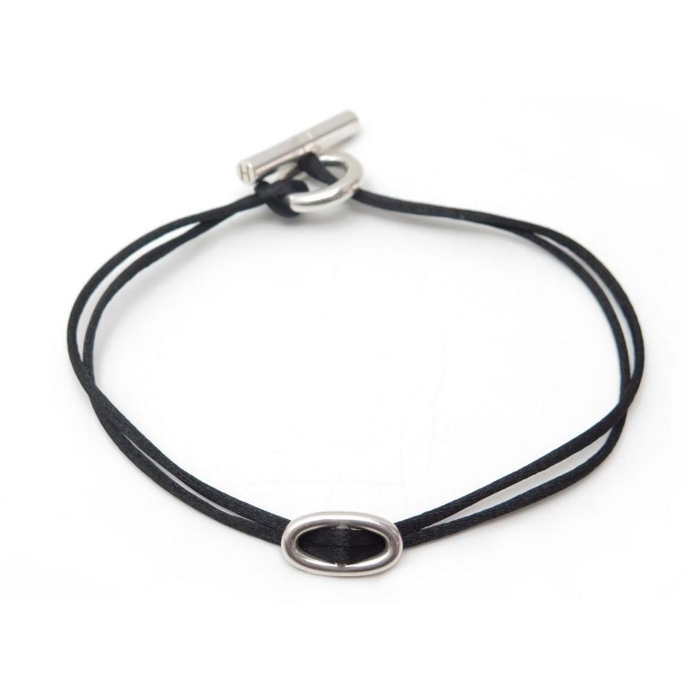 ... coupon code for neuf bracelet hermes skipper en argent massif 925  cordon noir silver 350. 73bbb534d39
