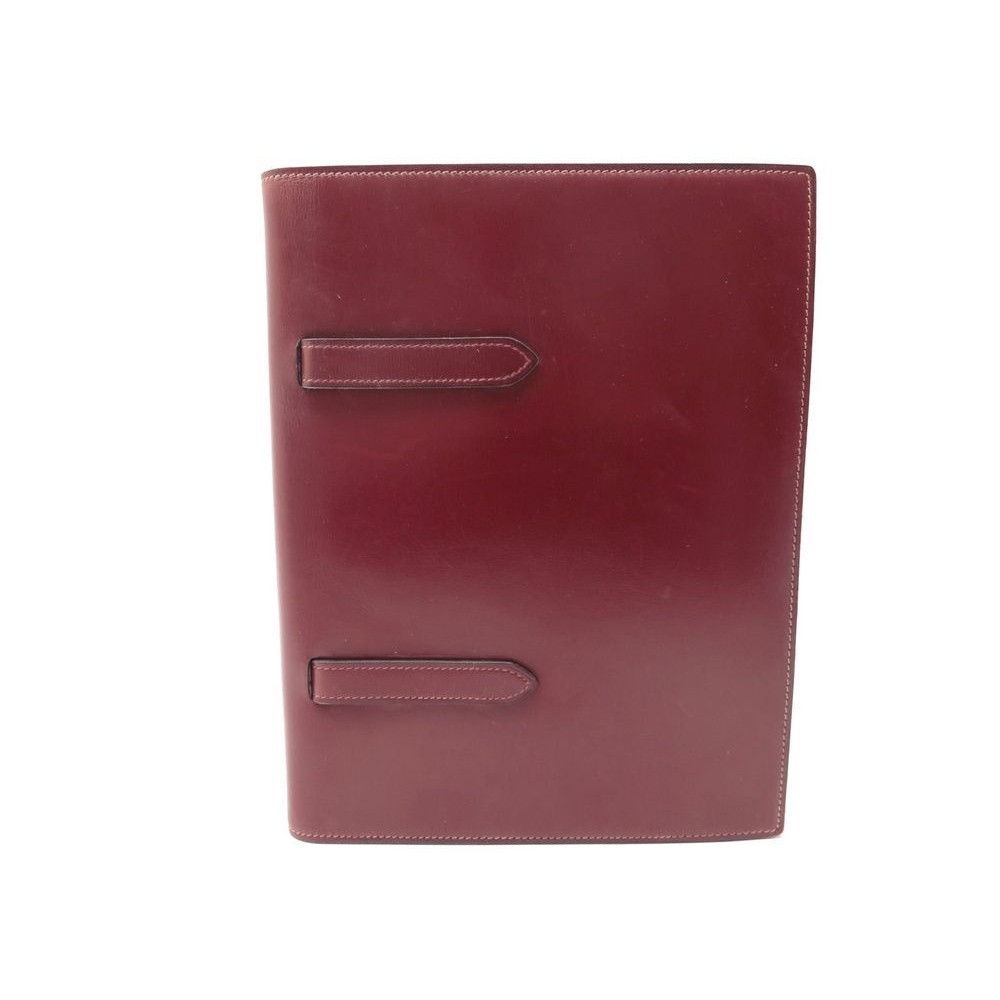 Porte Carnet Hermes Sgdg En Cuir Box - Porte box