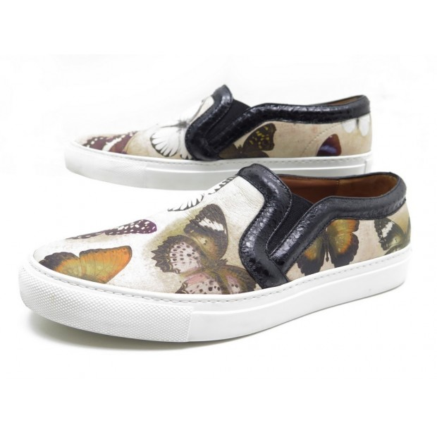 CHAUSSURES GIVENCHY SKATE SLIP ON 38 IT 38.5 FR PAPILLON