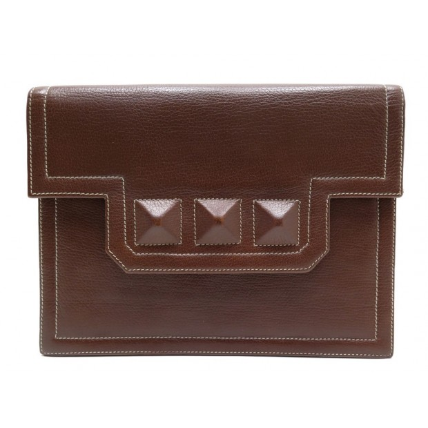 POCHETTE A MAIN YVES SAINT LAURENT MARRON