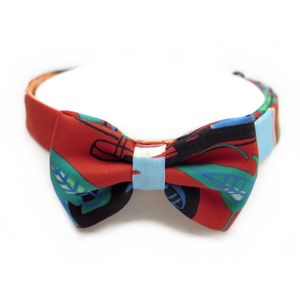 3400a592f9 ... closeout neuf hermes noeud papillon ou bracelet double tour en soie  boite bow tie 150.