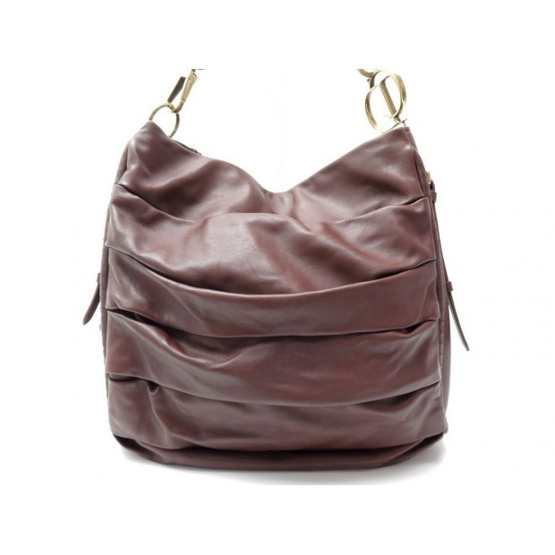 SAC A MAIN CHRISTIAN DIOR LIBERTINE EN CUIR MARRON LEATHER HAND BAG TOTE 1700€