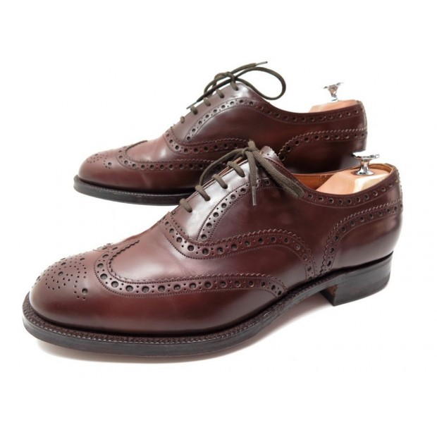 NEUF CHAUSSURES CHURCH'S BURWOOD RICHELIEU 9G 43 CUIR MARRON BROWN SHOES 620€