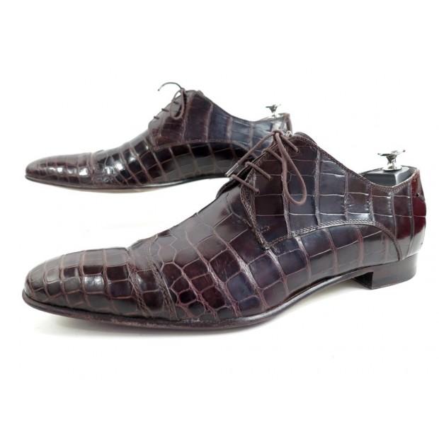 plus récent 7cfe7 ca690 chaussures zilli derby 9.5 43.5 cuir de crocodile