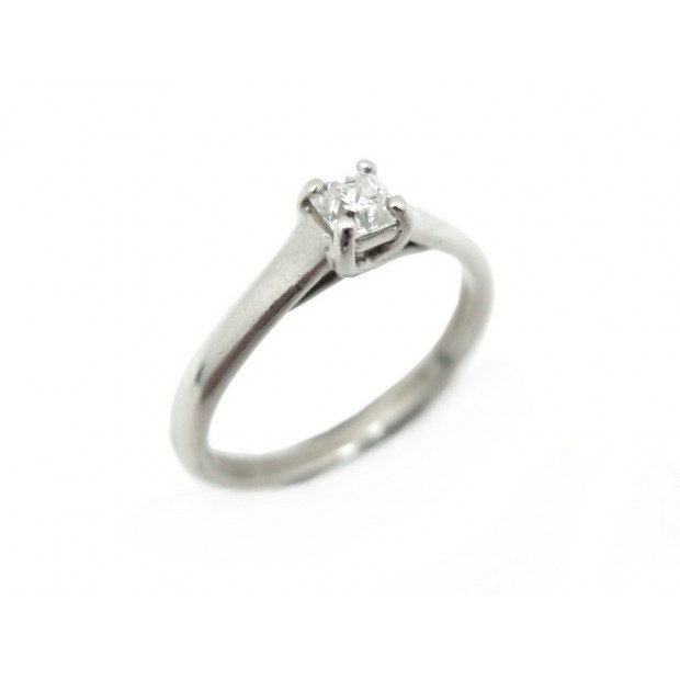 BAGUE TIFFANY & CO LUCIDA T 48 EN PLATINE DIAMANT SOLITAIRE 0.24 CT RING 4550€